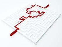 Принципиальная схема лабиринта Стоковые Изображения
