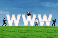 Принципиальная схема маркетинга интернета Стоковая Фотография RF