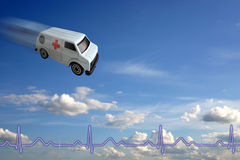 принципиальная схема машины скорой помощи Стоковое Изображение