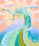 Принципиальная схема моря Стоковые Фото