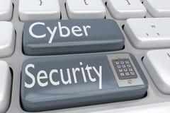 Принципиальная схема обеспеченностью Cyber Стоковые Изображения RF