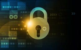 Принципиальная схема обеспеченностью Cyber Стоковое Фото