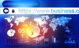 Принципиальная схема обеспеченностью Cyber Стоковое Изображение RF
