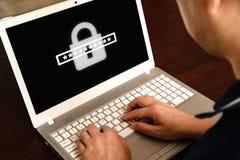 Принципиальная схема обеспеченностью Cyber стоковое фото rf