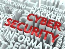 Принципиальная схема обеспеченностью Cyber. Стоковое Изображение