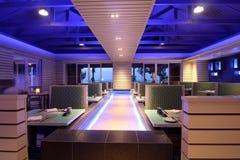 принципиальная схема обедая самомоднейший ресторан Стоковое фото RF