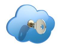 принципиальная схема облака вычисляя Стоковая Фотография