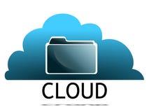 принципиальная схема облака вычисляя Стоковое Изображение