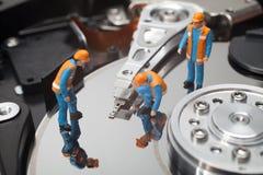 Принципиальная схема обслуживания компьютера Стоковое Изображение