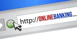 Принципиальная схема он-лайн банка Стоковые Изображения