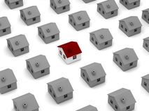 Принципиальная схема поиска дома иллюстрация вектора