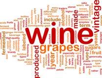 Принципиальная схема предпосылки сбора винограда вина Стоковые Изображения