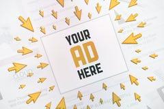 Принципиальная схема рекламы знамени успеха Стоковая Фотография RF