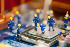 Принципиальная схема ремонта компьютера Стоковое Фото
