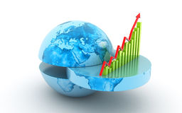 Принципиальная схема роста дела Стоковая Фотография RF