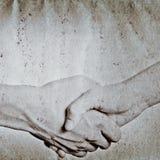 Принципиальная схема руки дела трястия Стоковая Фотография