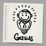 принципиальная схема Светильник-бизнесмена в типе doodle Стоковое Изображение RF