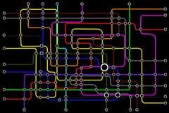 Принципиальная схема соединений людей сети подземки Стоковые Изображения RF