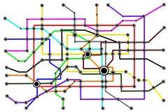 Принципиальная схема соединений людей сети подземки Стоковое Фото