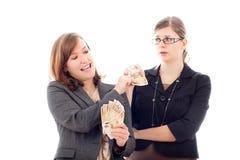 принципиальная схема теряя зарабатывающ деньги Стоковые Фото