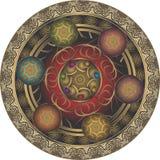 Принципиальная схема традиционного искусства Стоковое Изображение