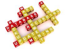 Принципиальная схема управления базы данных иллюстрация штока