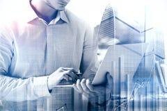 Принципиальная схема финансов и банка Стоковые Фотографии RF