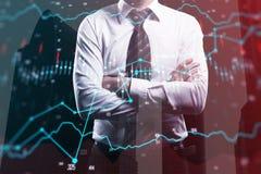 Принципиальная схема финансов и банка Стоковые Изображения RF