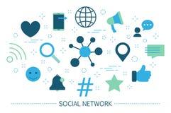 принципиальная схема цифрово произвела высокий social res сети изображения Сообщение и соединение по всему миру иллюстрация штока