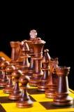 Принципиальная схема шахмат с частями Стоковое фото RF