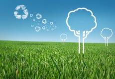 Принципиальная схема энергии Eco Стоковые Фото