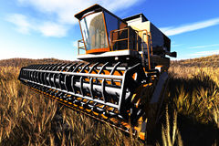 Принципиальная схема 3D жатки земледелия представляет 2 Стоковое Изображение