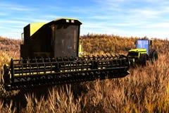 Принципиальная схема 3D жатки земледелия представляет 2 Стоковые Изображения