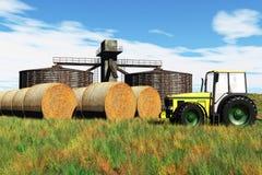 Принципиальная схема 3D земледелия представляет 1 Стоковые Фото