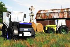 Принципиальная схема 3D земледелия представляет 2 Стоковое Изображение