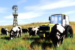 Принципиальная схема 3D земледелия представляет 4 Стоковое фото RF