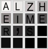 принципиальная схема alzheimers Стоковая Фотография RF