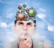 Принципиальная схема Brainstorming Стоковое фото RF