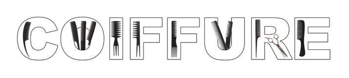 принципиальная схема coiffure стоковые фото