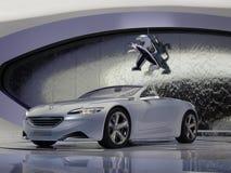 принципиальная схема peugeot sr1 автомобиля стоковая фотография
