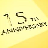Принципиальные схемы годовщины Стоковые Изображения RF