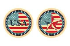 принципиальные схемы национальные США Иллюстрация вектора
