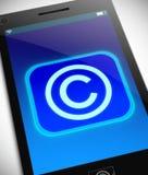 Принципиальная схема авторского права Стоковое Фото