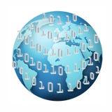 Принципиальная схема бинарного кода Стоковое Изображение