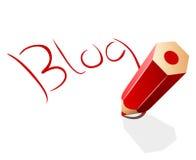 Принципиальная схема блога Стоковые Изображения