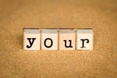 принципиальная схема ваша Стоковые Изображения RF