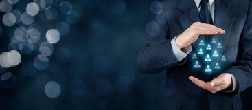 Принципиальная схема внимательности клиента или работников стоковые изображения rf