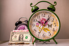 Принципиальная схема, время деньги Стоковое Изображение
