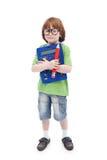 Принципиальная схема гения мальчика Стоковое Фото