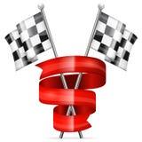 Принципиальная схема гонок Стоковое Изображение